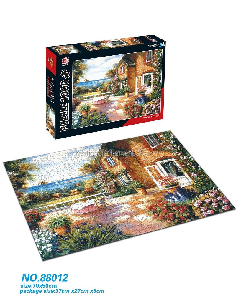 High quality rigid cardboard puzzle jigsaw games hot sale customized jigsaw puzzle