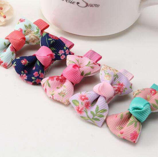 Fabric Flower Bows For Baby Girl Alligator Hair Clip Toddler No Slip Hair Clip For Baby Hair Accessory