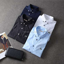Man shirt factory poplin button down slim fit latest casual shirts