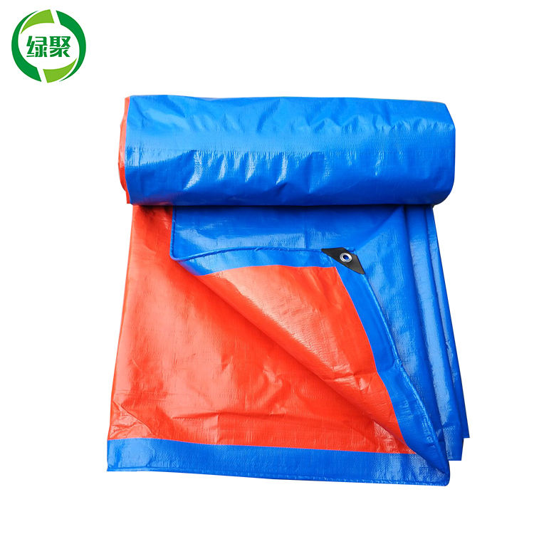 20x26ft 6x8m Blue Orange Covering Pe Canvas Tarpaulin Roof Material