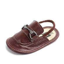 New arrival anti-slip leather baby slippers for boys baby sandals