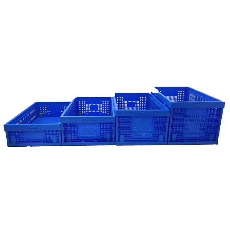 600*400mm plastic collapsible packing crate food containers folding crate plastic storage box for vegetable and fruits