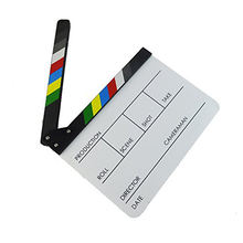 2018 wholesale Acrylic Professional Clapper Board For TV Film Home Movie Action Scene Director Film Clapboard