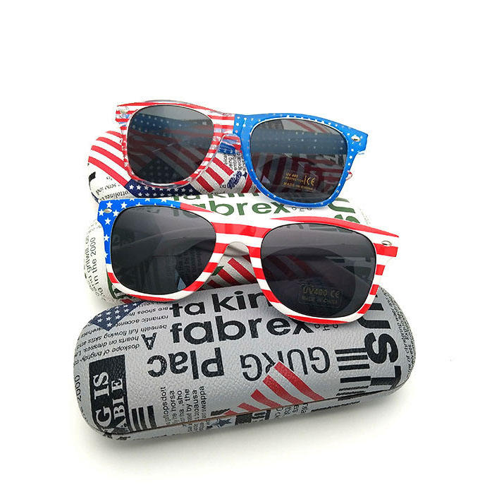 cheap mirror Sunglasses American Flag sun glasses Patriotic Fashion USA CE Sunglasses with wholesale