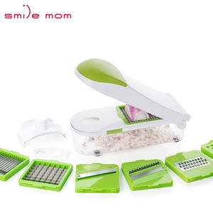 Glimlach Mom Plastic 2019 Multifunctionele Quick Ui Mandoline Groente Eten Slicer Dicer Chopper Fruit Cutter