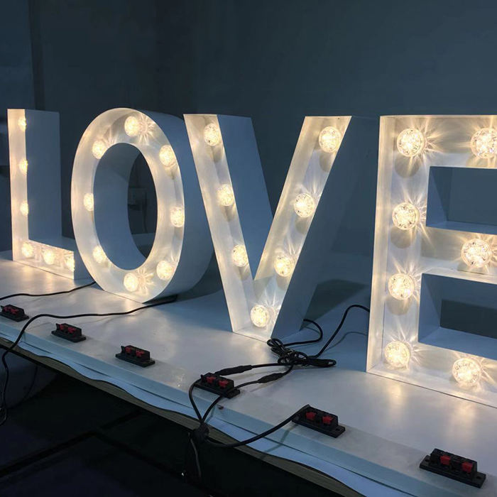 Outdoor Led Illuminated 4ft Giant Love Letters Sign Large Marquee Signage