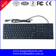 Super slim waterproof silicone keyboard with integrated numeric keypad