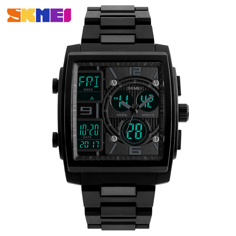 SKMEI 1274 fashion elegance simple rectangle dial mans cool digital watch