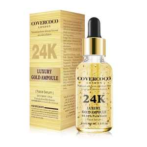 Covercoco Luxury Essential oil Moisturizing Firming Anti Aging Skin Care Lift 24k Gold Face Serum