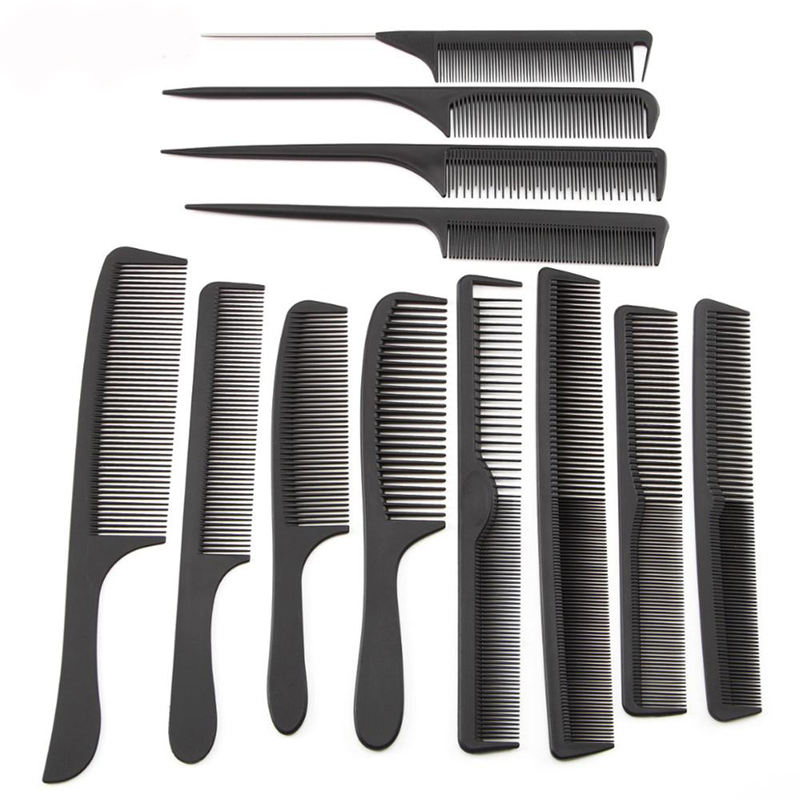 12 Style Anti-static Hairdressing Combs Straight Hair Brushes Girls Ponytail Comb Pro Salon Hair Care Styling Tool