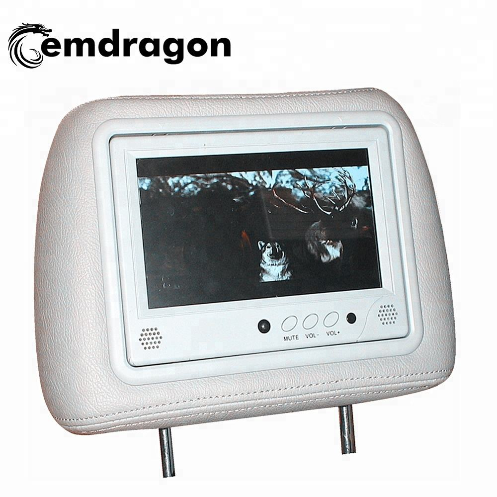 Android Taxi advertising headrest monitor with 7 inch LCD display built in 3G 4G with content management