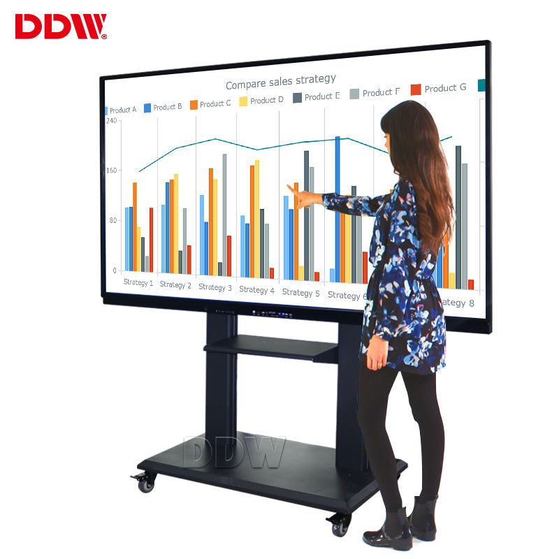 China manufacture prices 82 inch smart portable digital board touch screen stand electronic interactive whiteboard for classroom