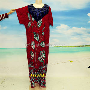 Nigerian islamic women beaded top robe clothing kaftan