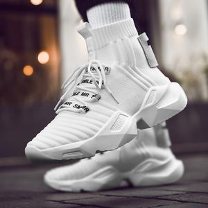 EVERTOP the most popular knit fabric sock design trainer sneakers speed sneakers running shoes