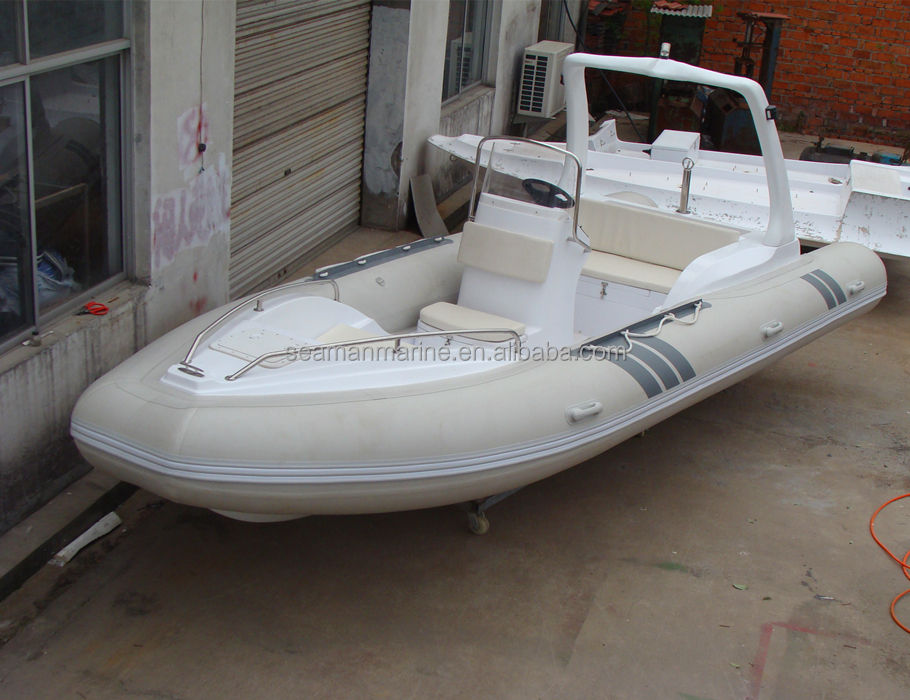 rigid inflatable rib boat 580cm with Hypalon or PVC high pressure air tube