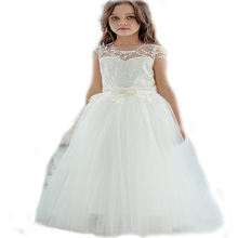 Little Girl Party Gowns princess Girl Party Dress Pageant frocks First Communion Dress Applique Tulle Flower Girls Dresses