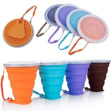 270ml Collapsible Silicone Coffee Cup Foldable Drinking Mug With Lid