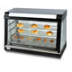 Commercial Electric Curved Glass Warming Showcase for bread and chicken