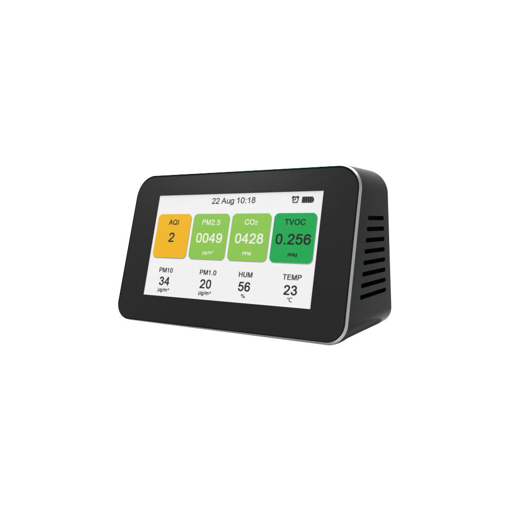 Hoge Precisie Digitale Formaldehyde Detector Multifunctionele CO2 Gas Analyzer TVOC Lucht Kwaliteit Monitor voor Home Office Auto