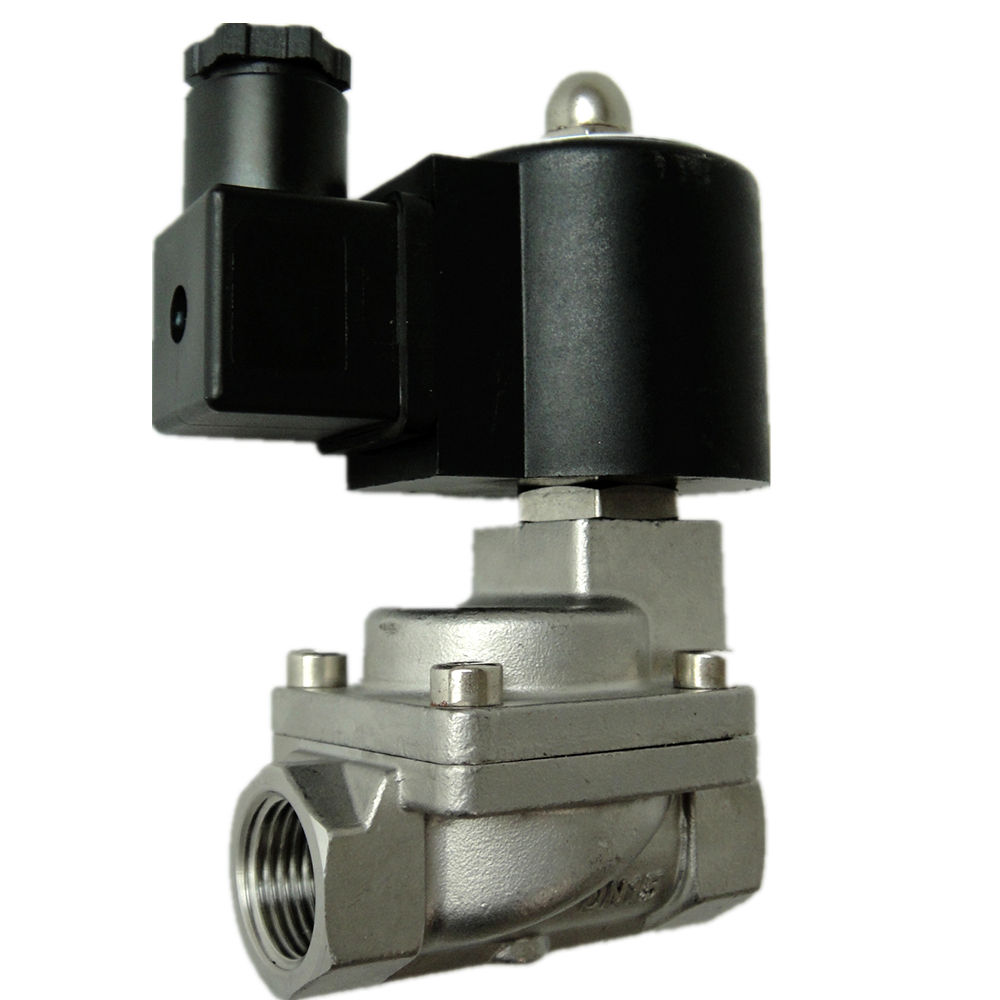 2/2 자 KLS Series KLS-15-D1 Stainless Steel (High) 저 (압력 Pilot 피스톤 형 DC12V Solenoid Valve