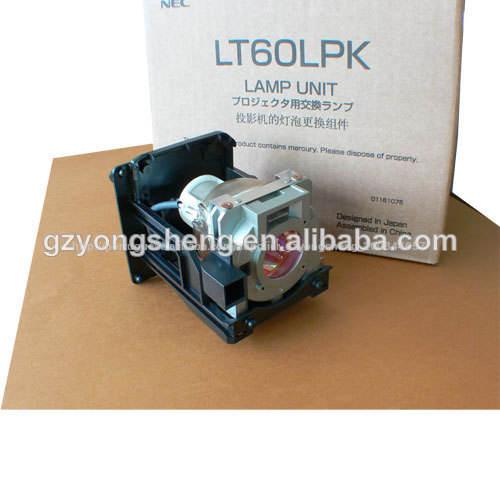 Lâmpada de projetor lt60lpk para projetor nec lt220/lt240/ht1000/ht1100