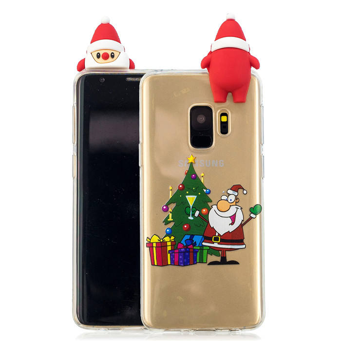 Papa cute doll Share christmas cell phone case,natural tpu phone case for samsung S9