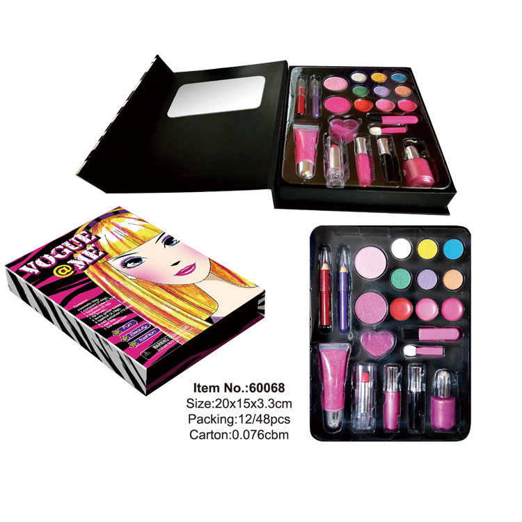 hot selling makeup set with glitter craft box