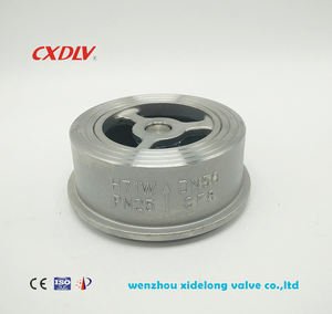 stainless steel H71W wafer check valve