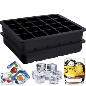 Wholesale Premium Silicone Food Grade approved Square Shaped 20 Cavity Ice Cube Tray
