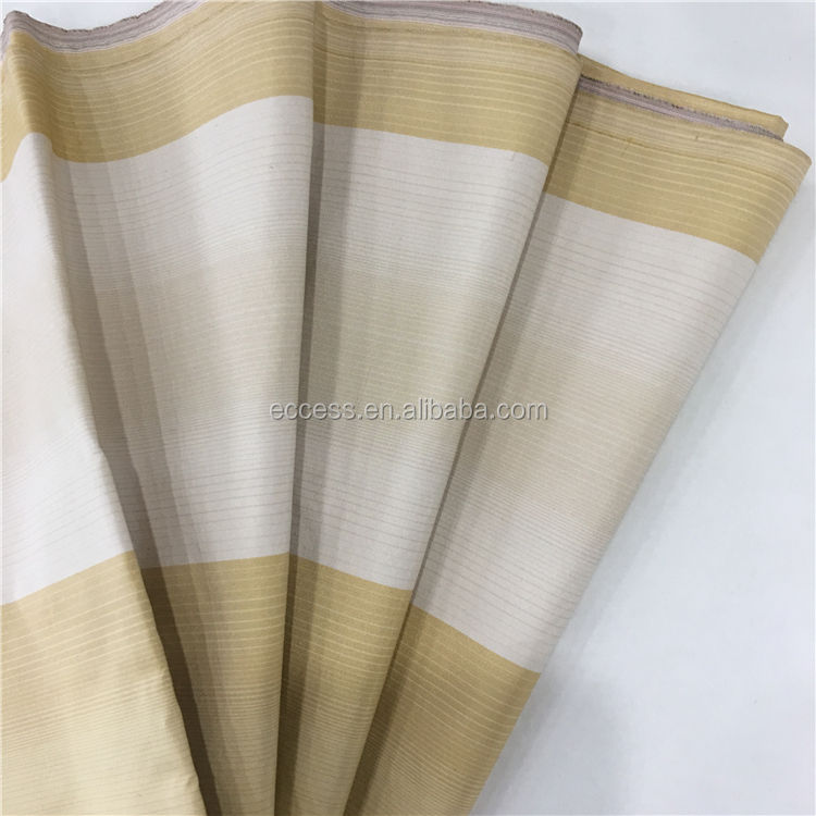 yarn dyed 100% mulberry silk fabric stripe pattern for home decorative
