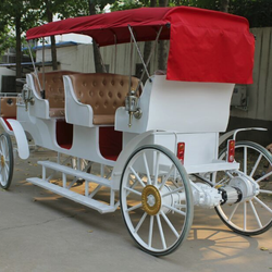 Customized design electric horse equipment carriage for sale