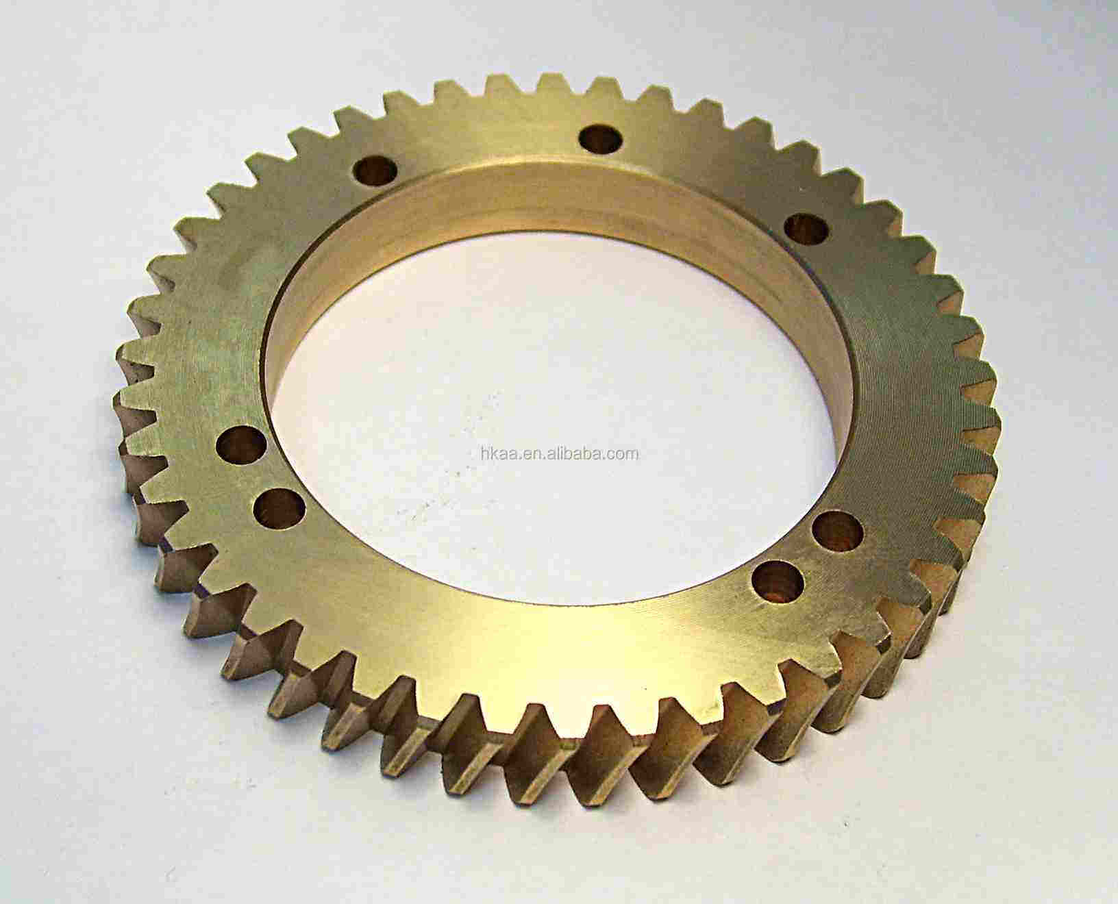 CNC machined bronze toothed gear wheel,bronze ring gear wheel