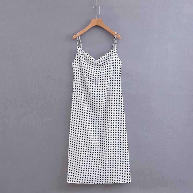 New Products Slip Dot A Line Women Long Dress Women Casual Designer Dress