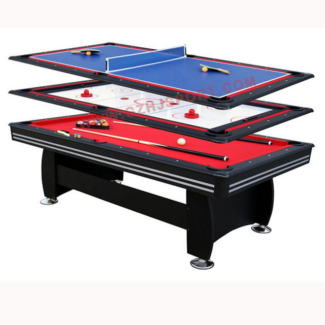 MDF Entertainment Indoor Sports 3 in 1 multi game table, pool table,tennis table and dining top