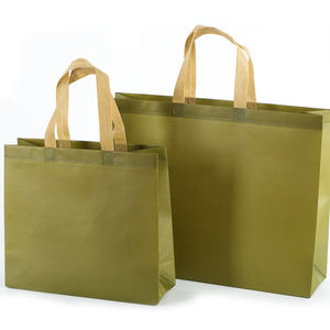 Custom Logo Printed Handle biodegradable Reusable Extra-Wide Non Woven Grocery Shopping Bag