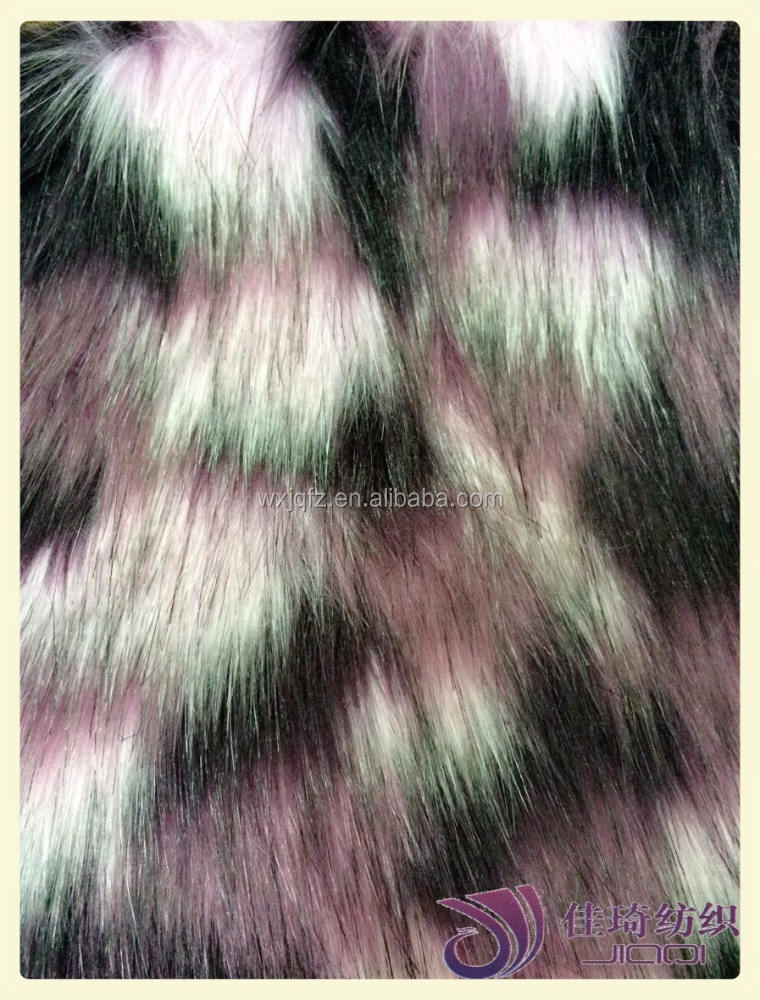 Multi color jacquard moda faux fur pelo