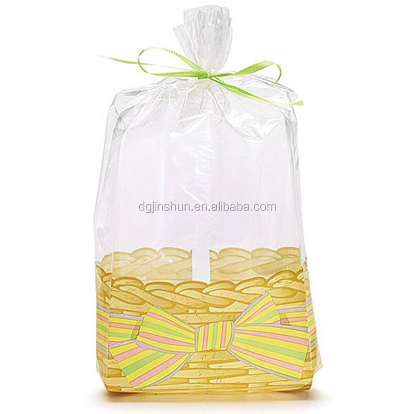Clear Flat Cello Cellophane Bags Gift Basket Packaging Bags for Bakery