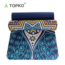 TOPKO Custom Eco Friendly Digital Printed TPE Suede Yoga Mat