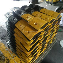 Good quality washboard shape rubber speed bumps / rubber speed hump / road speed ramp