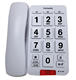 New Design Free Sample Landline Phone Big Button Cheap Corded Telephone with White Clean Speaker