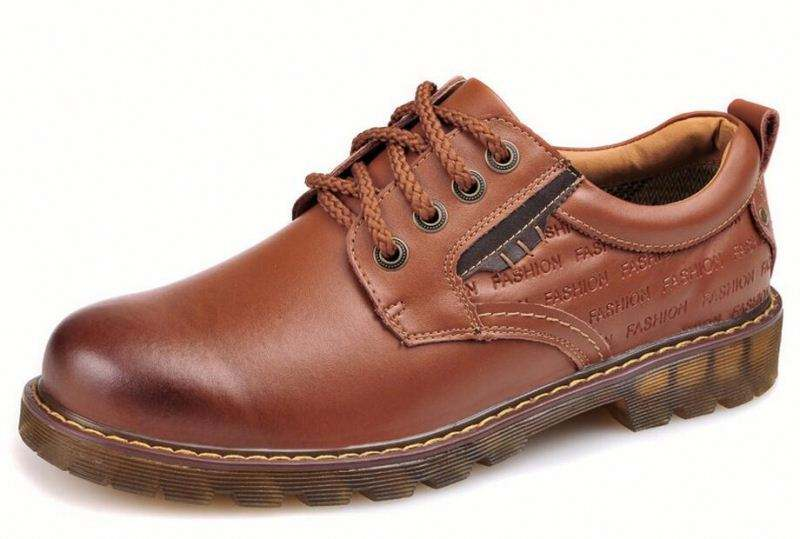 New fashing Men Casual Genuine Leather Shoes Men Oxford Fashion Lace Up breathable Shoes