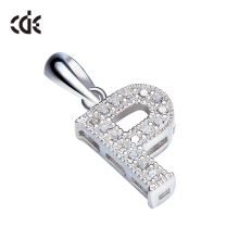 925 Sterling Silver English Fashion Letter P Pendant Jewelry