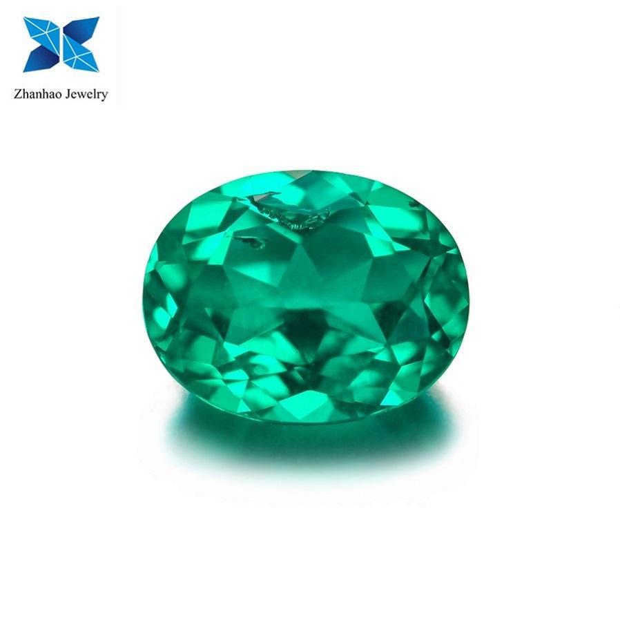 Stunning 9 mm Fancy Round Brilliant Vivid Green Nano Cyrstalized Glass stone