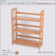 Book Rack Shelf Bamboo Bookcases