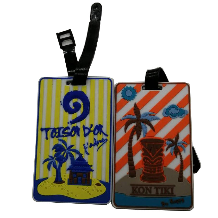 promotional items with logo PVC travel luggage tag Plastic rubber luggage tag great promotional gifts/Souvenirs with logo