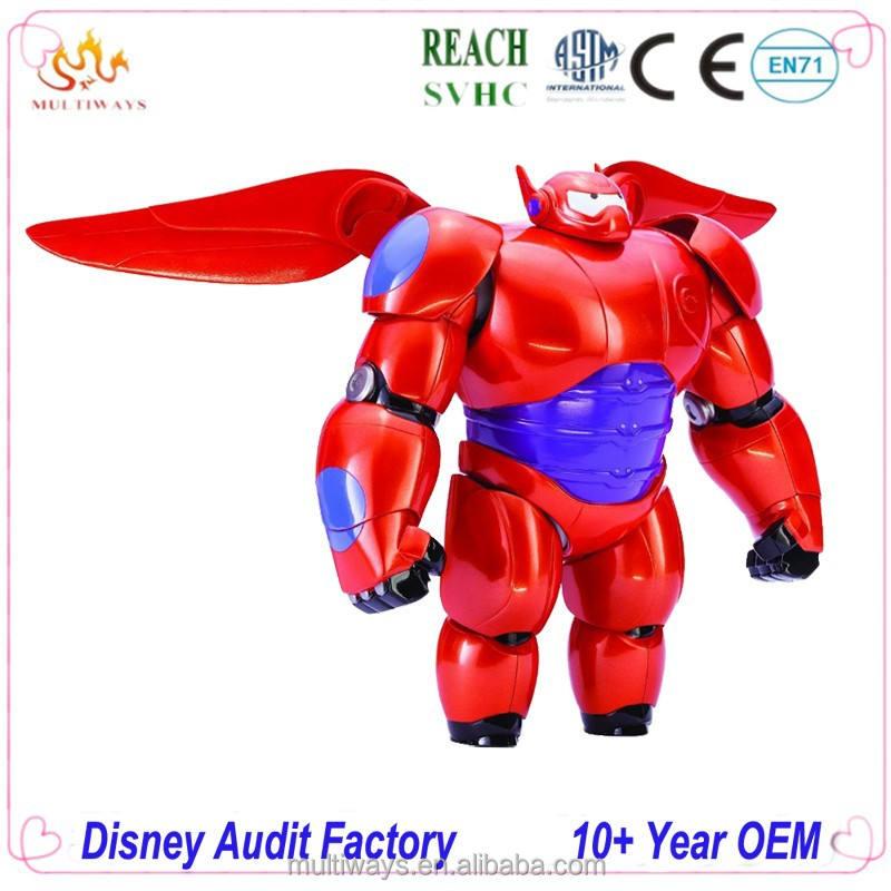 2018 Big Hero 6 Baymax Anime PVC Action Figure Cartoon Cute Robot Shaking Baymax