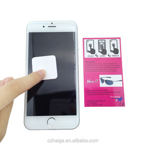 Microfiber sticker screen cleaner / screen cleaner sticker /Super convenient mobile screen cleaner