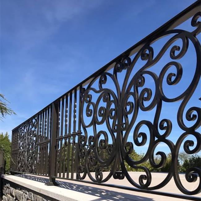OEM/ODM steel fencing panels wrought iron fence