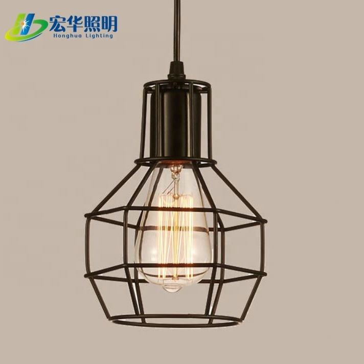 New popular fashion Nordic retro bird cage iron wire pendant light for decoration