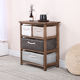 Small office furniture straw hand woven basket multi- tier chest of drawer filing cabinet